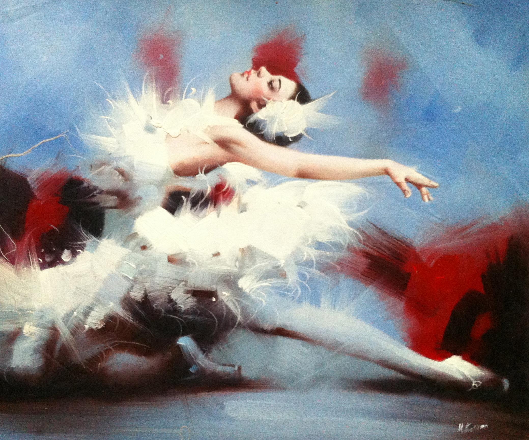 Fosthen балерина холст масло 50x60см 2012г